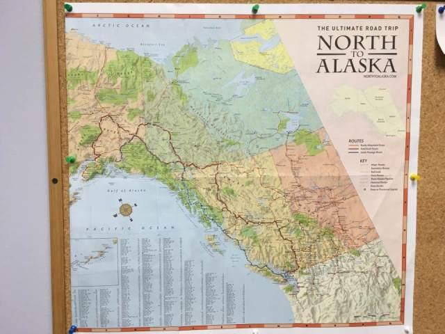 North to Alaska map