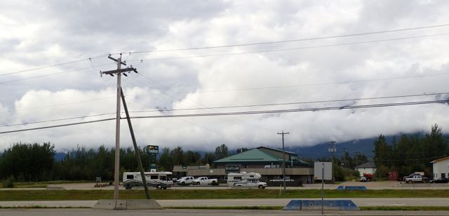 low clouds from a gas stop.