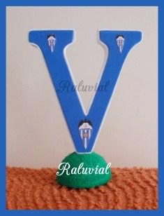 Letra V decorada