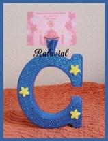 Portafotos letra C decorada