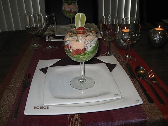 Krabcocktail met grapefruit