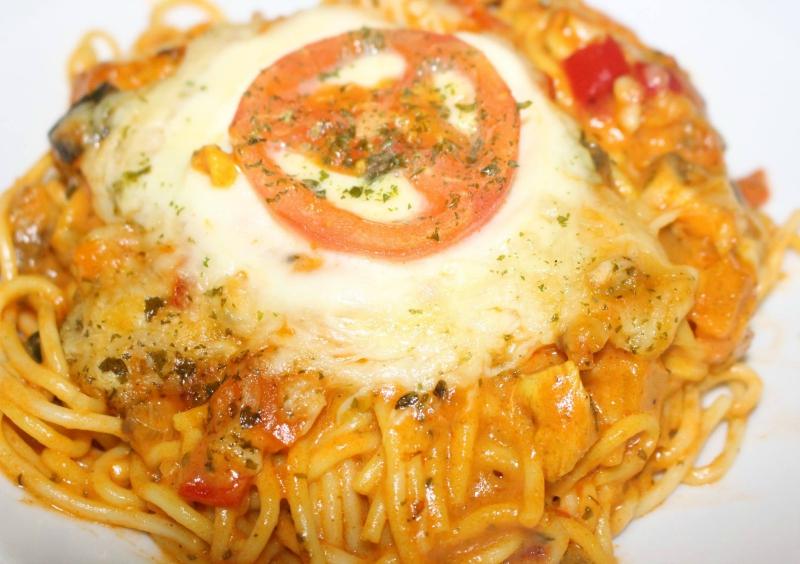 Spaghetti ovenschotel met kip