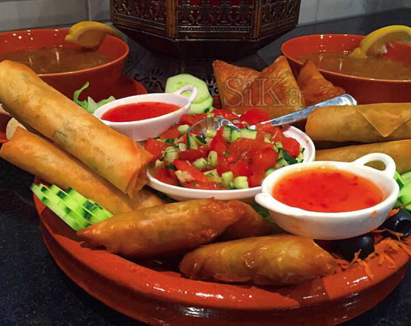 Marokkaanse loempia's met kip