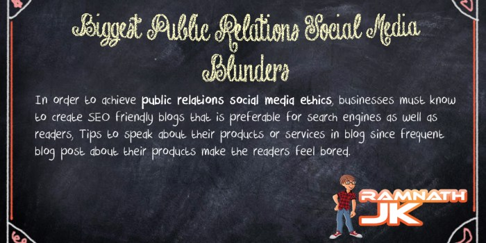 public relations social media ethics
