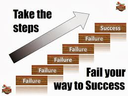 failre is the stepping stone to success