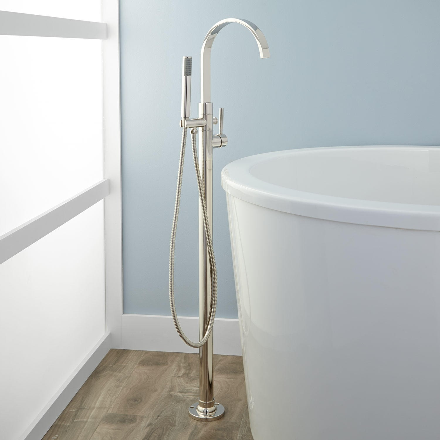 Clever Handheld Shower Garden Tub Faucets With Handheld Shower Garden Tub Faucets Handheldshower Mount Freestanding Tub Fillers Signature Hardware X Garden Tub Faucets Garden Tub Faucets houzz-03 Freestanding Tub Filler
