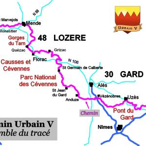 Profil du chemin urbain v chemin urbain v en randonn e - Office de tourisme saint jean du gard ...