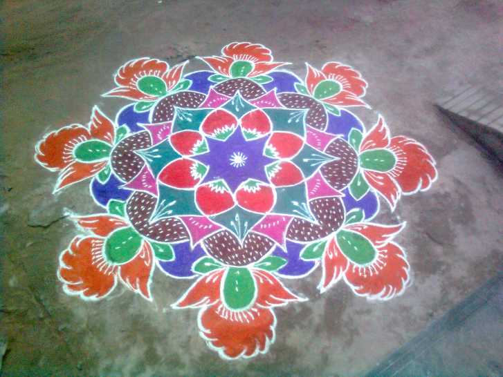 Tamil New Year Special Rangoli By Sridevi Nambi Of Chidambaram