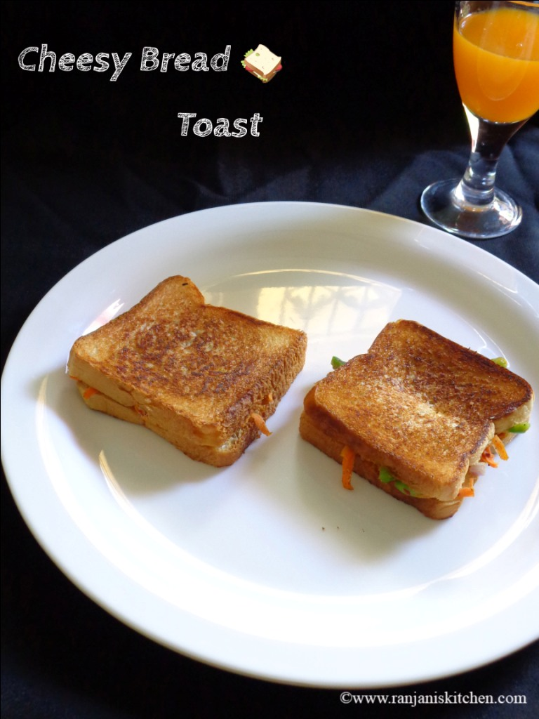 Quick Breakfast Ideas - Cheese Bread Toast