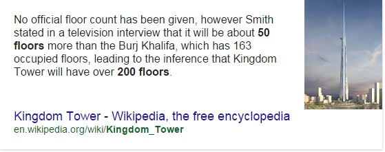 how many floors in kingdom tower