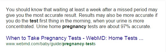 when to take pregnancy test
