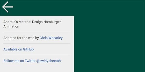 Material Design Hamburger