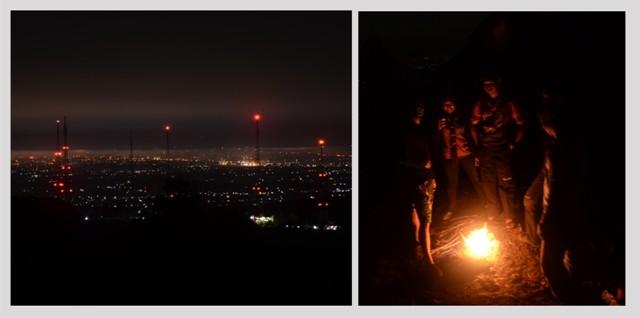 Menikmati keindahan malam di Nglanggeran bersama kawan