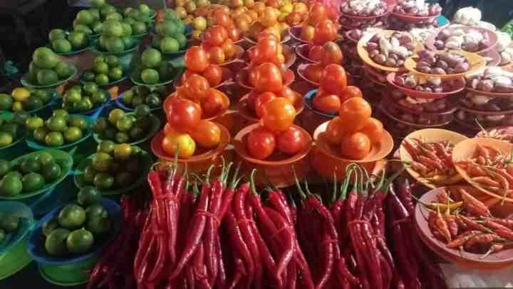 sayuran pasar sanggeng