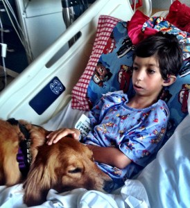 Joel & Roony the therapy dog
