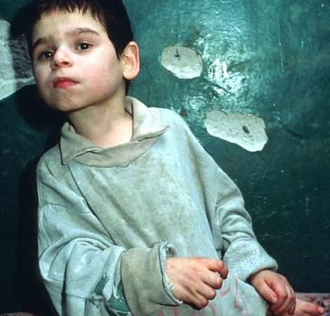 orphanage in 1990 in Romania