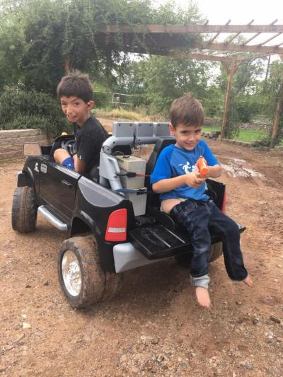 israel in truck