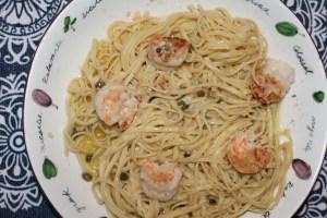 Linguine and Shrimp Scampi