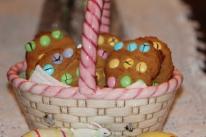 Peanut Butter and M&M's Easter Cookies