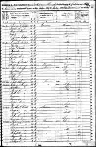 US 1850 Census of Drew County, AR