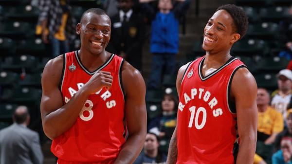 The Raptors might be forced to choose between DeMar DeRozan and Bismack Biyombo this offseason.