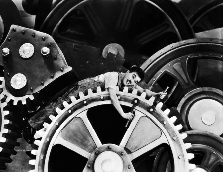 Charlie Chaplin's Modern Times (1936) would provide iconic imagery of humanity subordinated to undefined ends of machinery