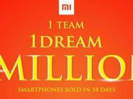 Xiaomi 1 million milestone