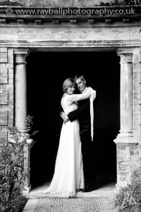 Wedding reception photograph in bride and grooms' garden on Kingston Hill, Surrey by Epsom Photography.