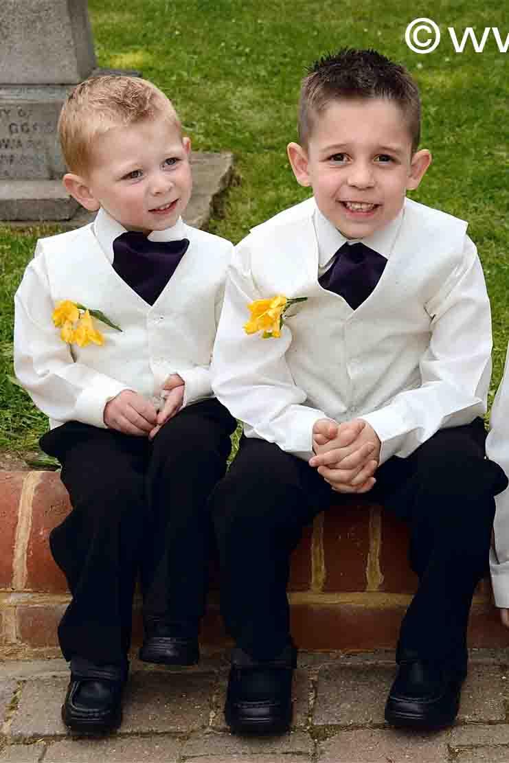 Page boys at Esher wedding.