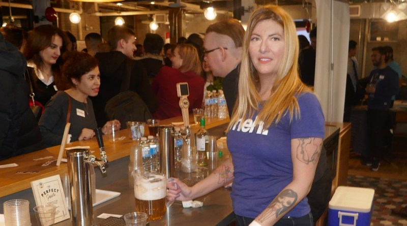 Raymi the Minx as bartender at HackerNest 2018 Toronto