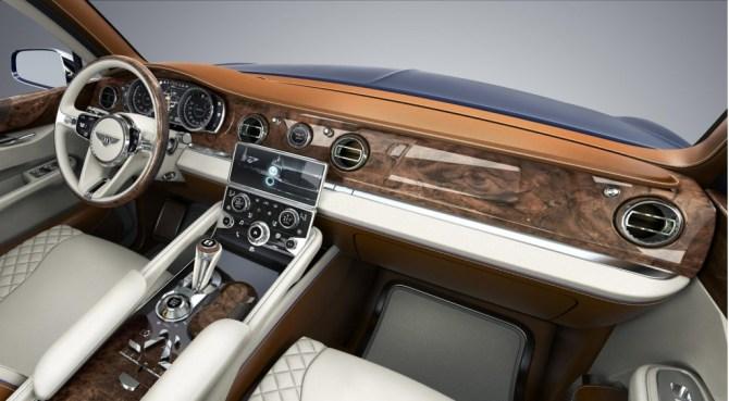 Interior do Bentley Exp 9 F Concept de 2012