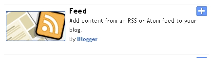 Add content from an RSS or Atom feed to your blog.