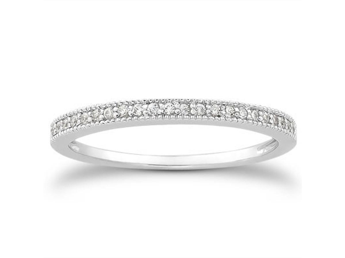 Diamond Micro Pave Diamond Milgrain Wedding Ring Band in 14K White Gold pave diamond wedding band Diamond Micro Pave Diamond Milgrain Wedding Ring Band in 14K White Gold
