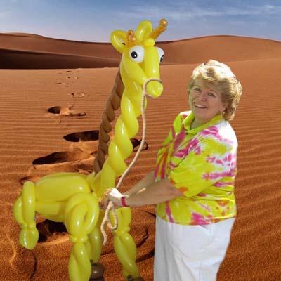 Debbie in the Balloon Desert