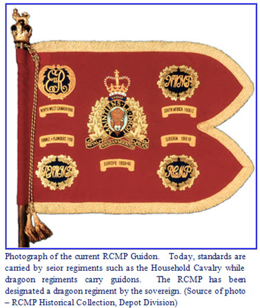 Photograph of the new RCMP Guidon
