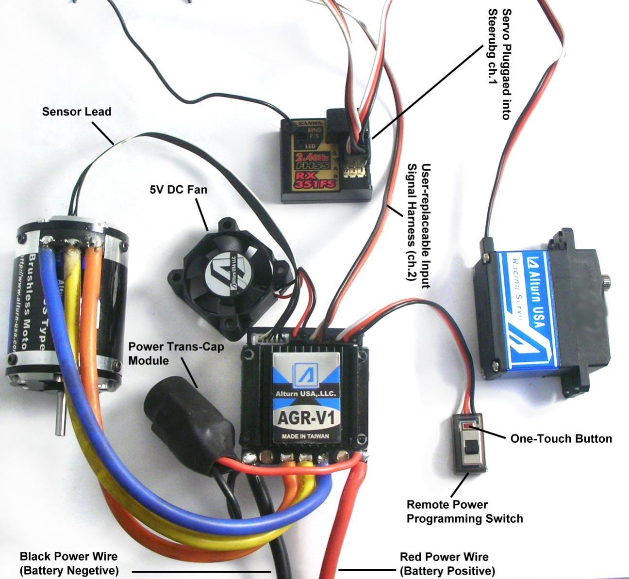 rc car esc wiring complete wiring diagrams u2022 rh 207 246 78 188 brushless motor esc wiring diagram Brushless ESC Wiring Turnigy Car
