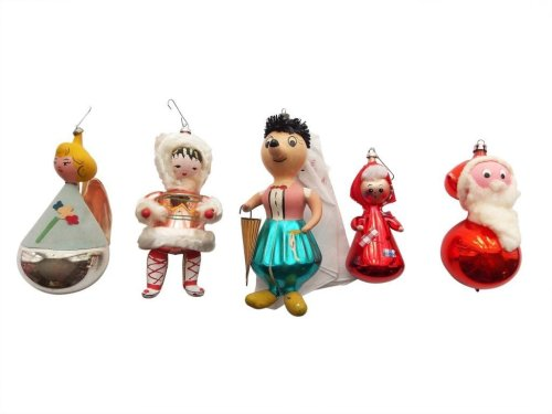 Medium Of Vintage Christmas Decorations