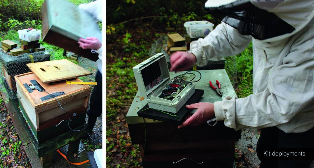 Image showing how Bee Lab kit was used and tested in the field.