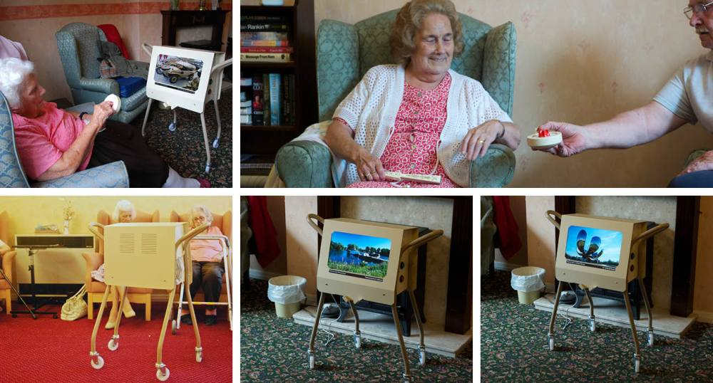 Working with people in their homes with the photostroller, as part of the New Dynamics of Ageing project.