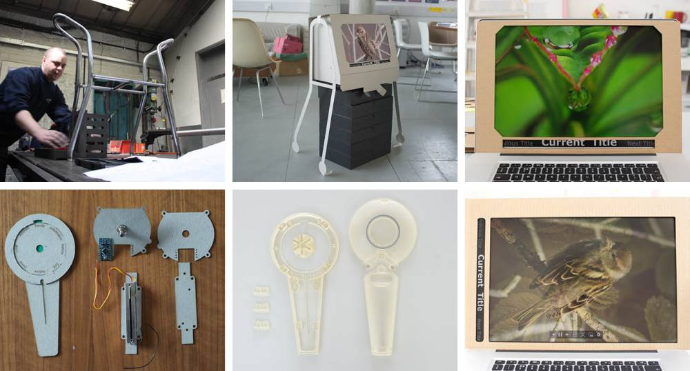 Collage of equipment used in the New Dynamics of Ageing Project.