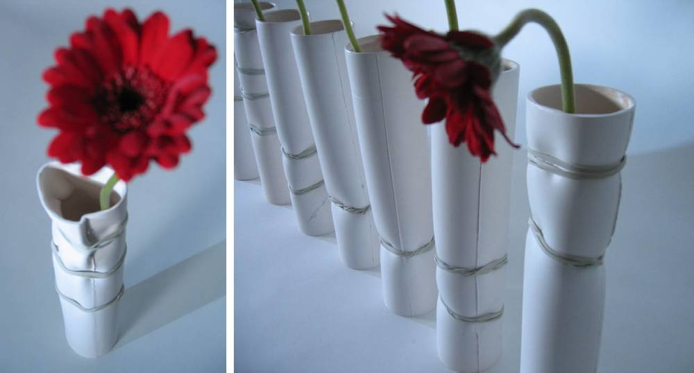 Finished results for new ceramic vases.