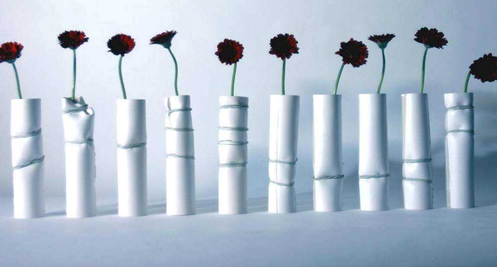 The full range of new ceramic vases created.