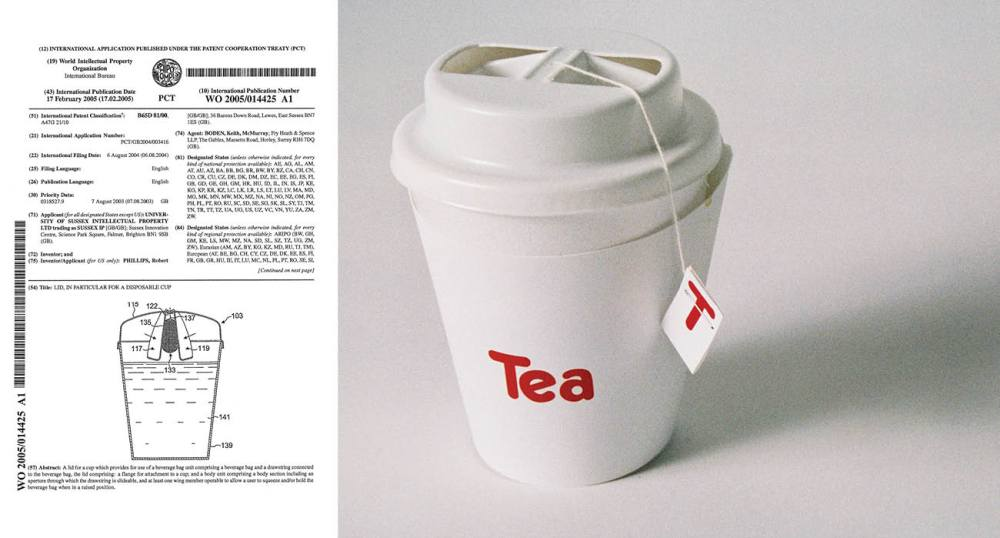 More close ups of parts of Travel Tea - a user centred packaging patent.