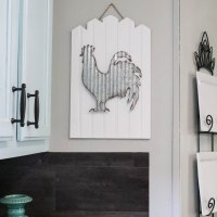 DIY Bead Board Rooster Sign