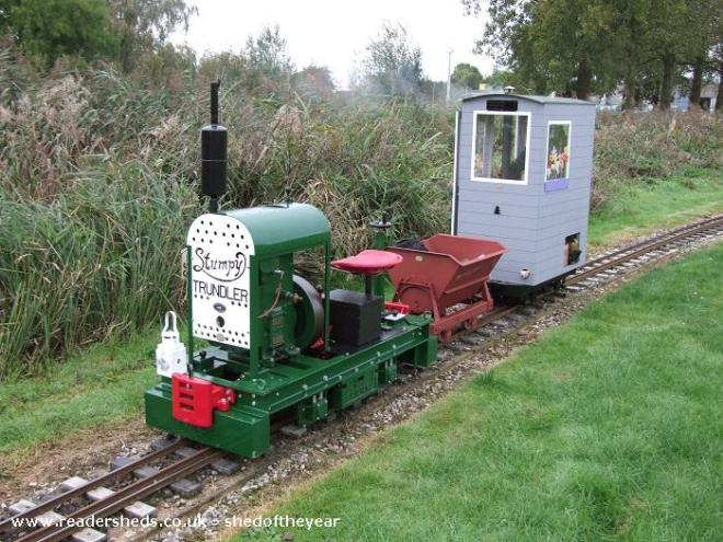 Micro shed - Colin Edmondson - On a miniature railway wagon, it can travel around!