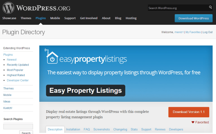WordPress Easy Property Listings Plugin screenshot