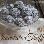 Paleo chocolate truffles 150x150 Flourless Chocolate Cake {paleo}
