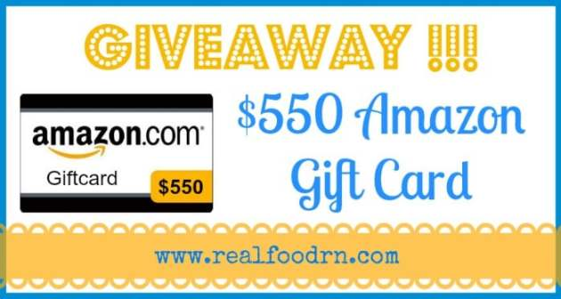 Giveaway $550 Amazon Gift Card | Real Food RN