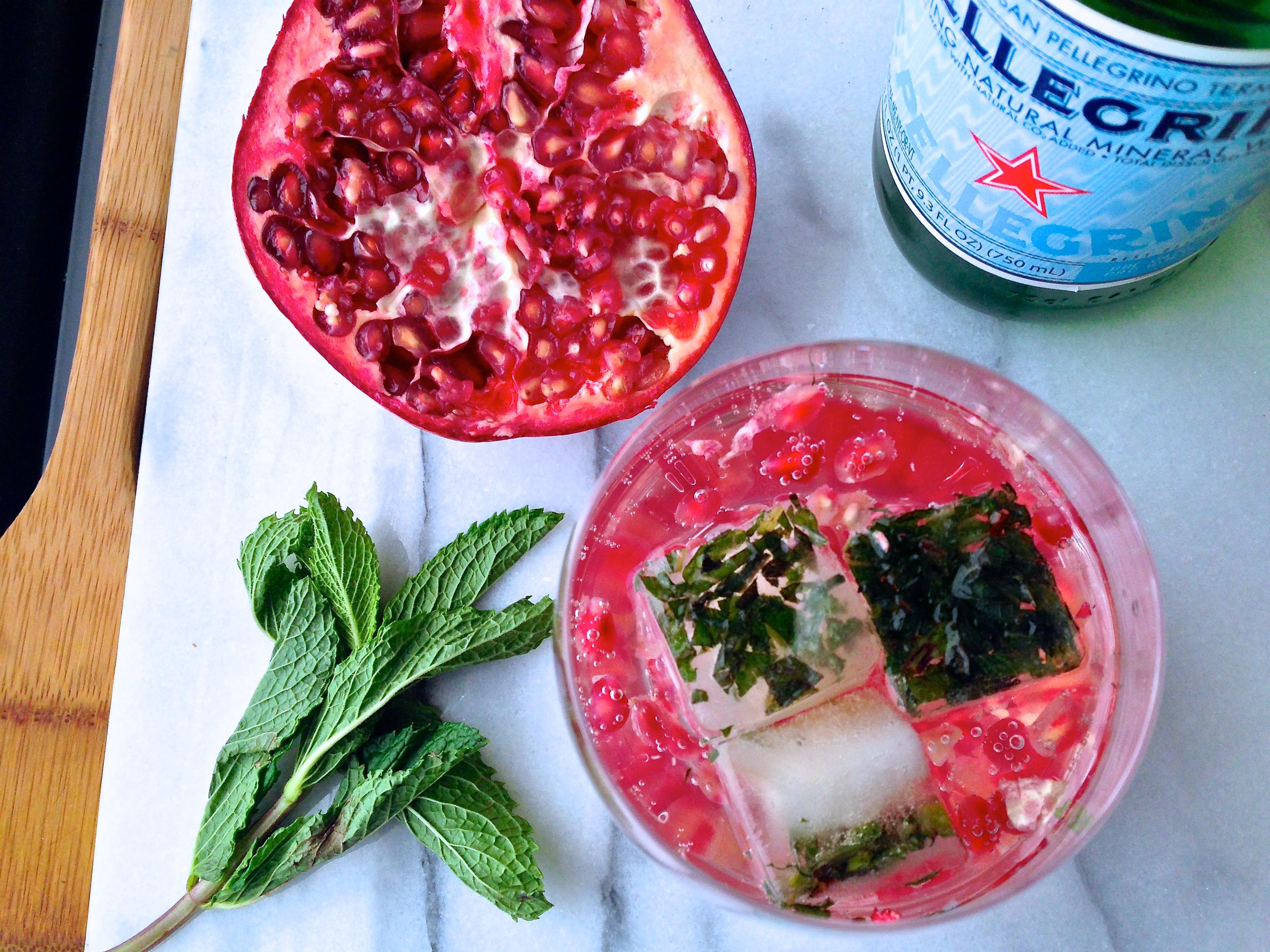 Pomegranate-Mint Spritzers - 1