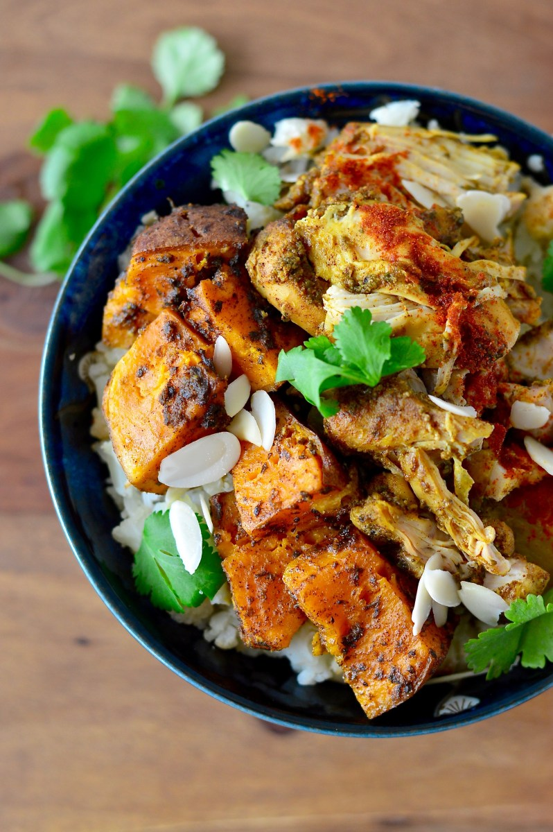 Slow Cooker Moroccan Chicken Thighs